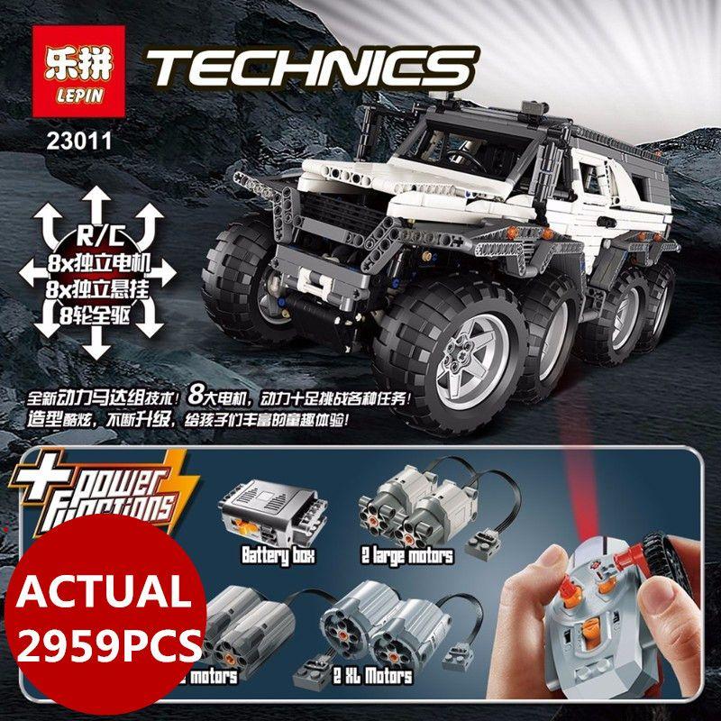 LEPIN 23011B Technic Series 2959pcs Off-road Vehicle Model Building Kits Block Educational Bricks Christma Toys birthday Gifts