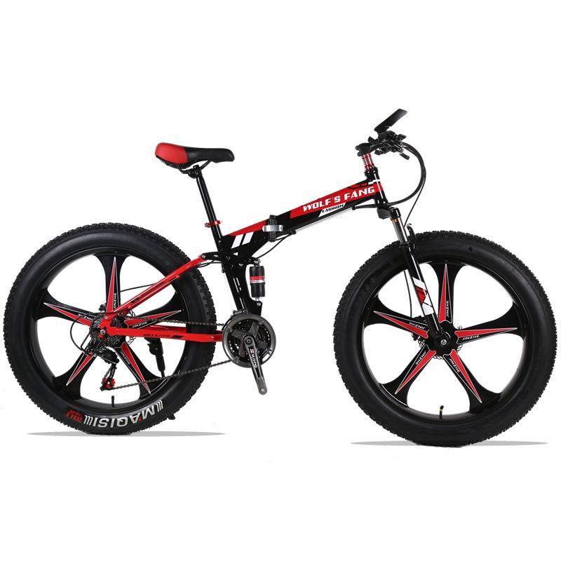 wolf's fang Folding Mountain Bike 21/24 speed 26X4.0