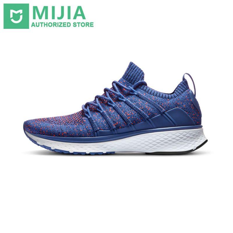 Original Xiaomi Mijia chaussures Sneaker 2 Sports en cours d'exécution respirant nouveau système de verrouillage de l'os de poisson élastique tricot Vamp pour hommes en plein air