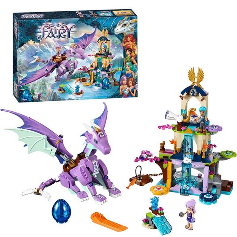 Bela 10549 591 pièces elfes de fées le sanctuaire de Dragon blocs de construction ensemble enfants jouets Compatible elfes 41053 amis filles jouets