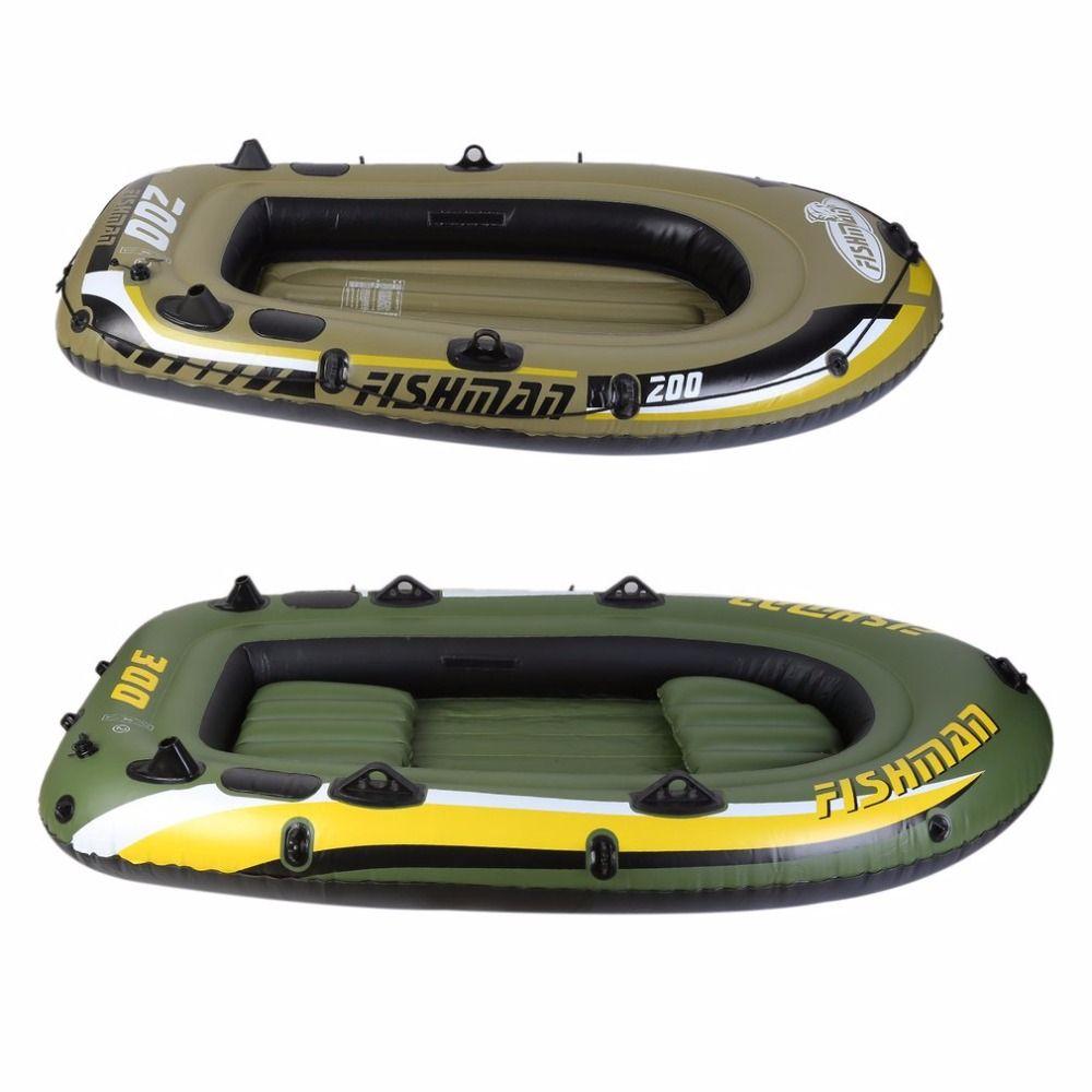 Aufblasbare Fischer Treiben Rettungs Raft Boat Schwimmweste Zwei Weg elektrische Luftpumpe Paddel Schlauchboot Kit PVC Heißer verkauf