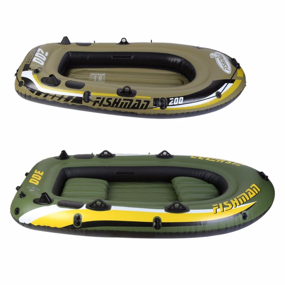 Inflatable Fishing Drifting Rescue Raft Boat Life Jacket Two Way Electric Pump Air Pump Paddles Rubber Boat Kit PVC Hot sale