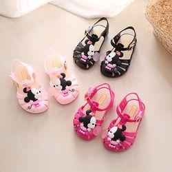 Niños sandalias 2018 nuevo Mini Melissa Mickey niñas cristal sandalias jalea zapatos de los niños de Mickey Minnie zapatillas princesa zapatos