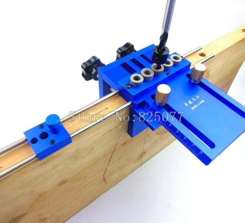 3 in 1 Drilling High Precision Dowel Jigs Dowelling Jig Kit Woodworking Tool Woodworking Joinery Locator Drilling Guide KF1006