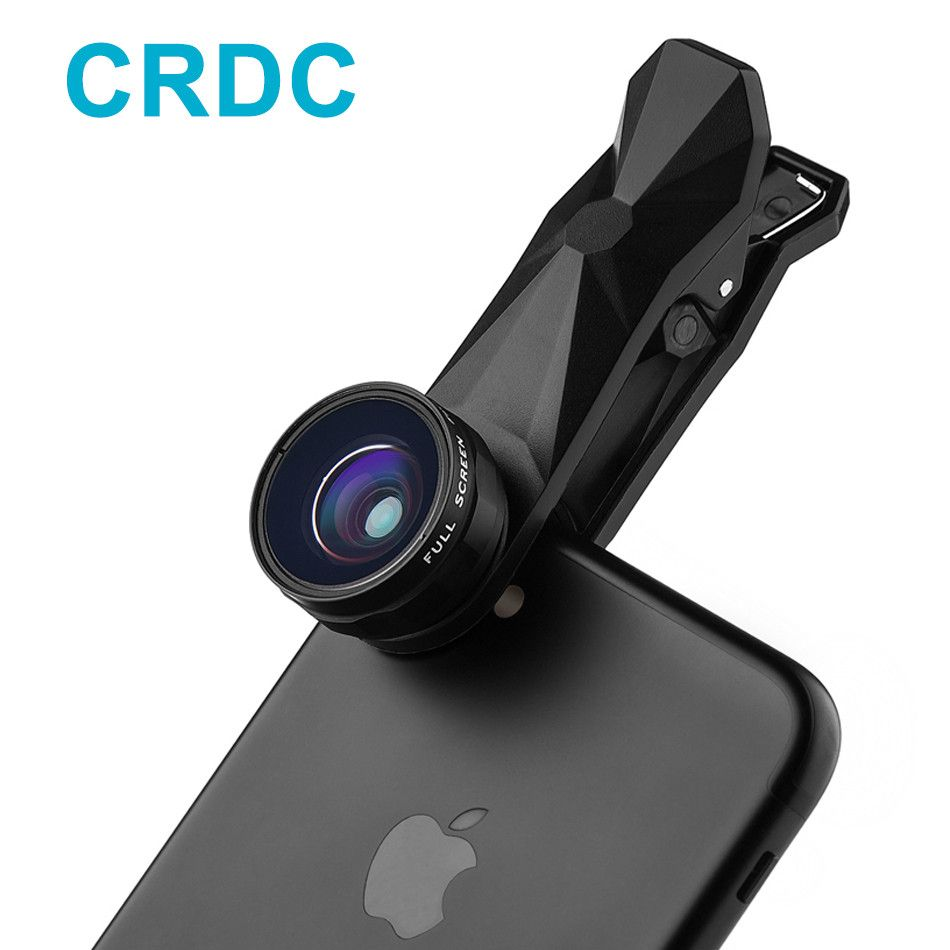 CRDC Fish eye 3in 1 Clip-on Smartphone Lens 180 Degree Fisheye Lens +Wide Angle+ Macro Lens for iPhone/Plus Xiaomi Mobile Phone