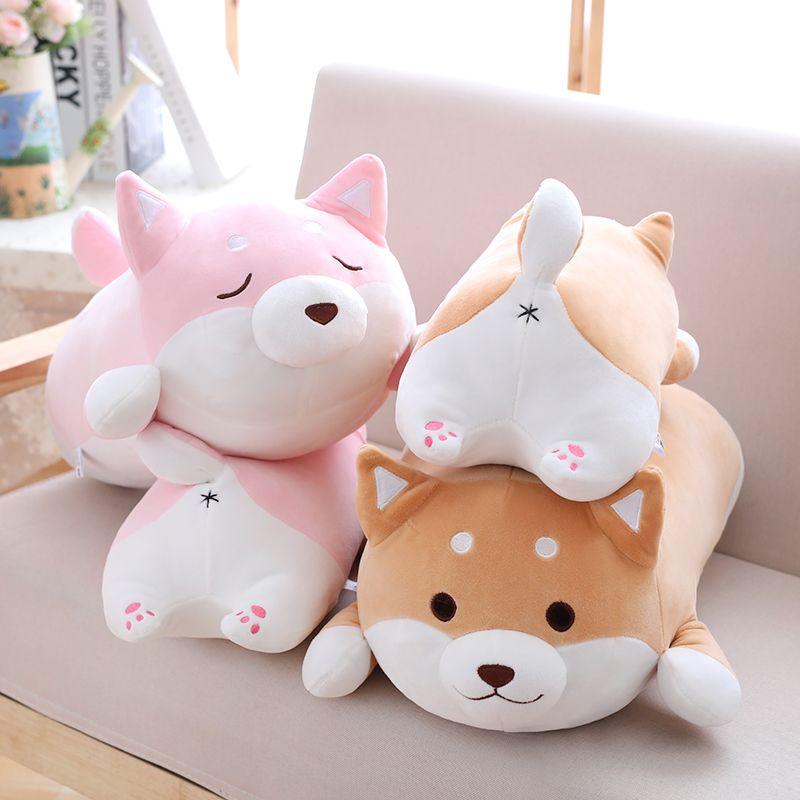 36/55 mignon gros Shiba Inu chien en peluche peluche doux Kawaii Animal dessin animé oreiller beau cadeau pour enfants bébé enfants bonne qualité