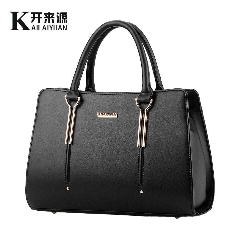 KLY 100% Genuine leather Women handbag 2018 New bag female sweet lady stereotypes fashion handbag Crossbody Shoulder Handbag