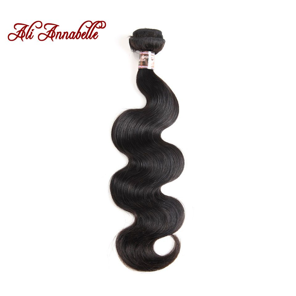 ALI ANNABELLE HAIR Brazilian Body Wave Hair Extensions 100% Remy <font><b>Human</b></font> Hair Weave Bundles Natural Color Free Shipping