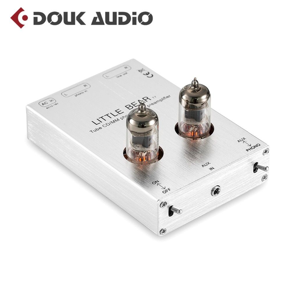 2018 Lastest Little Bear T7 Valve 6J1 Tube Phono Stage RIAA MM Phonograph Preamplifier Stereo Pre-Amp (Silver) Free Shipping