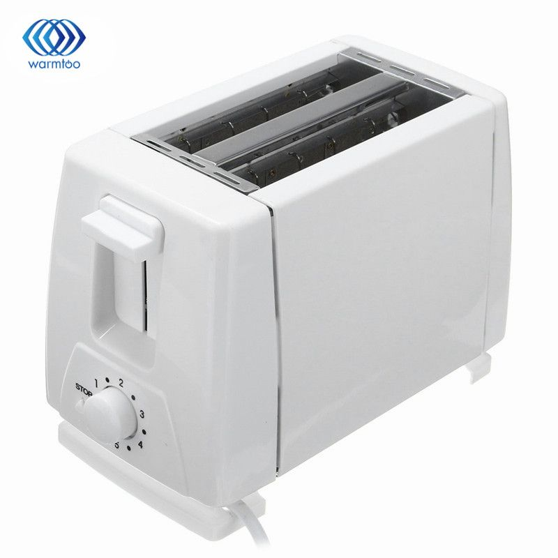 EU Plug 750W Household Automatic Bread Toaster Baking Bread Maker Machine 2 Slices Slots For Breakfast Multifunctional 230V