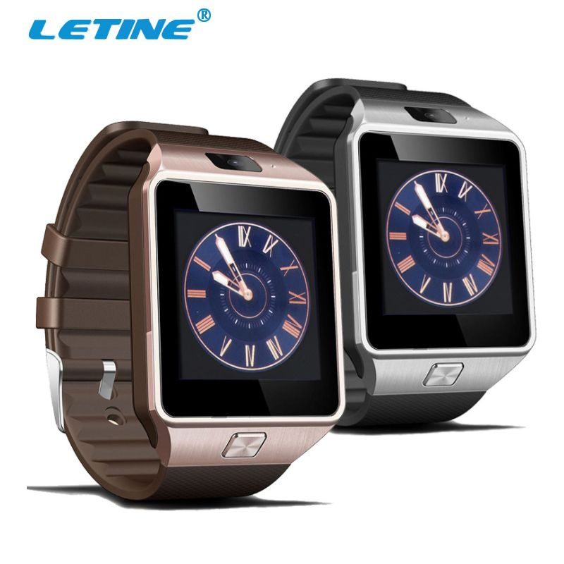 Letine DZ09 Smart-reloj pantalla táctil reloj de la tarjeta SIM para la conectividad IOS iphone android teléfono PK QW09 U8 Q18