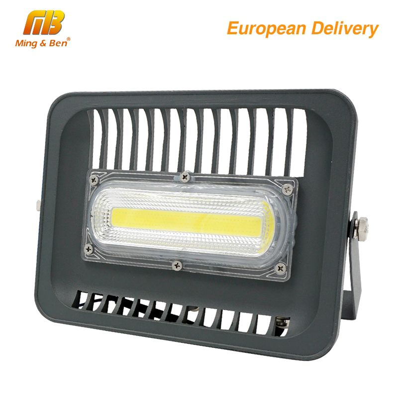 [MingBen] LED Floodlight 30W 50W 100W Outdoor Lighting AC230V IP65 CE LED Floodlight For Square Garden Garage Ship form ES RU CN