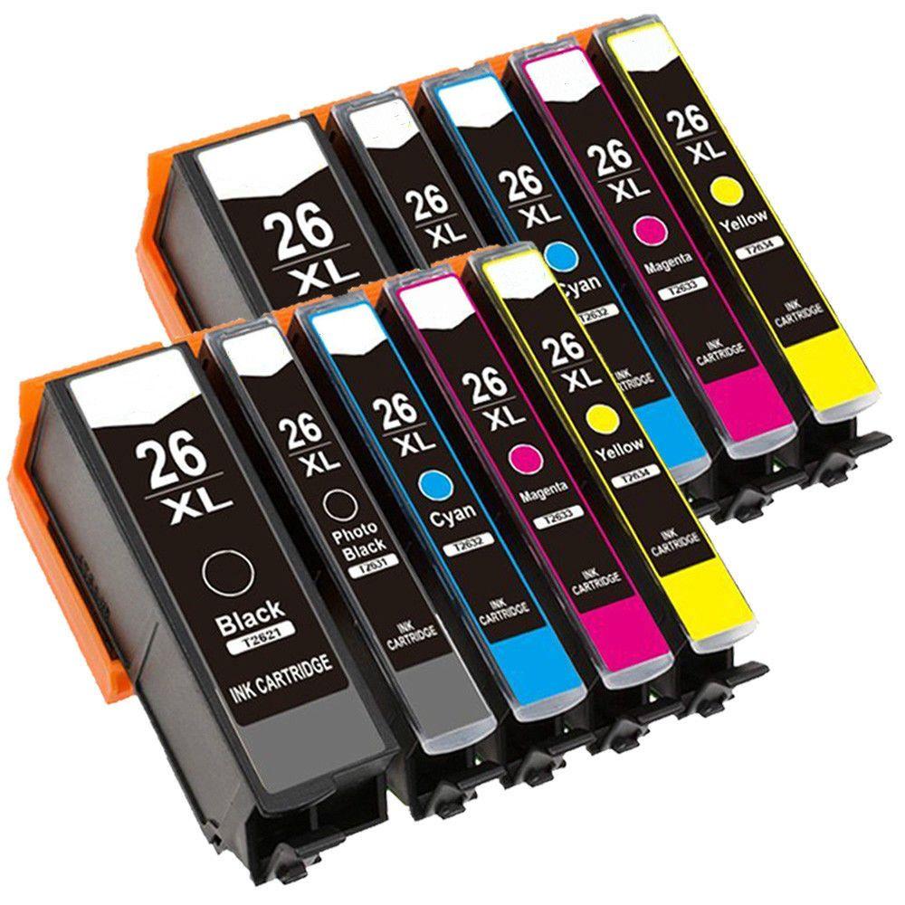 10x T2621 Ink cartridge for XP510 XP625 XP610 XP605 XP600 XP700 XP615 XP520 XP800 XP620 XP710