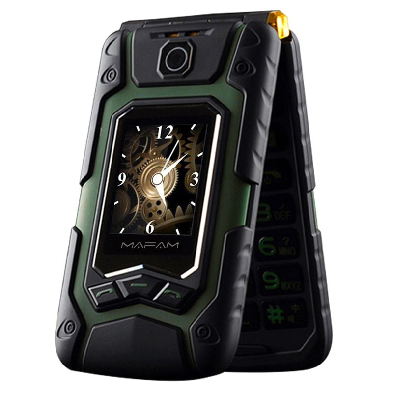 MAFAM Terre Flip Rover X9 Double Affichage GPRS Écriture D'écran Tactile Double Sim FM Longue Veille Téléphone Portable Senior Pour anciens