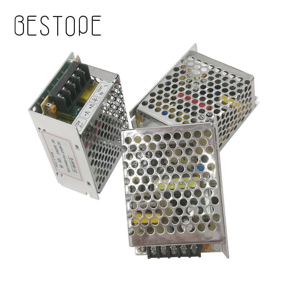 BESTOPE alimentation en alimentation LED 5A 60 W LED adaptateur de puissance de commutation 110 V 220 V à 12 V transformateur pour bande de LED