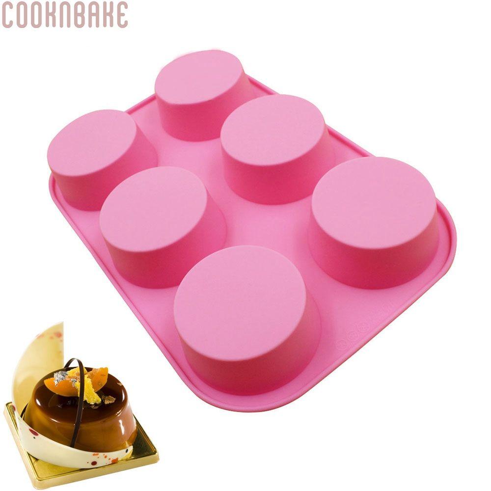 Cuisson au four bricolage réutilisable Silicone ustensiles de cuisson moules à gâteau 6 trous Muffin Cupcake moule à la main savon moule SSCM-001-14