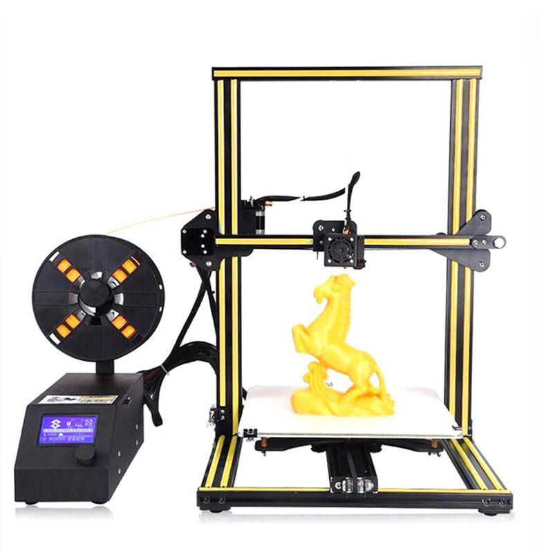 CR-10 3D Printer DIY KIT Full Metal Aluminum Frame Large print Size 300*300*400mm n 200g Filament+Hotbed+8G SD card as gift