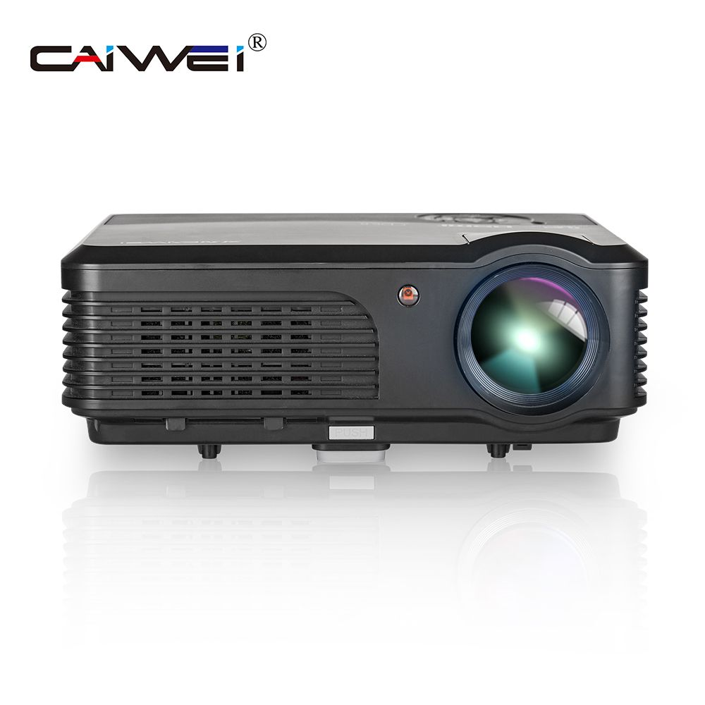 CAIWEI A6 4200 Lumen Full HD 1080 p Projektor LCD Projektor LED TV Projektor HDMI Digitale Tragbare Audio Video hause theater