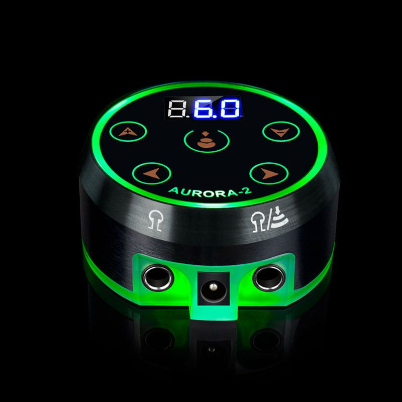 2018 New Mini Critical AURORA LED Touch Pad Tattoo Power Supply - TPS12#