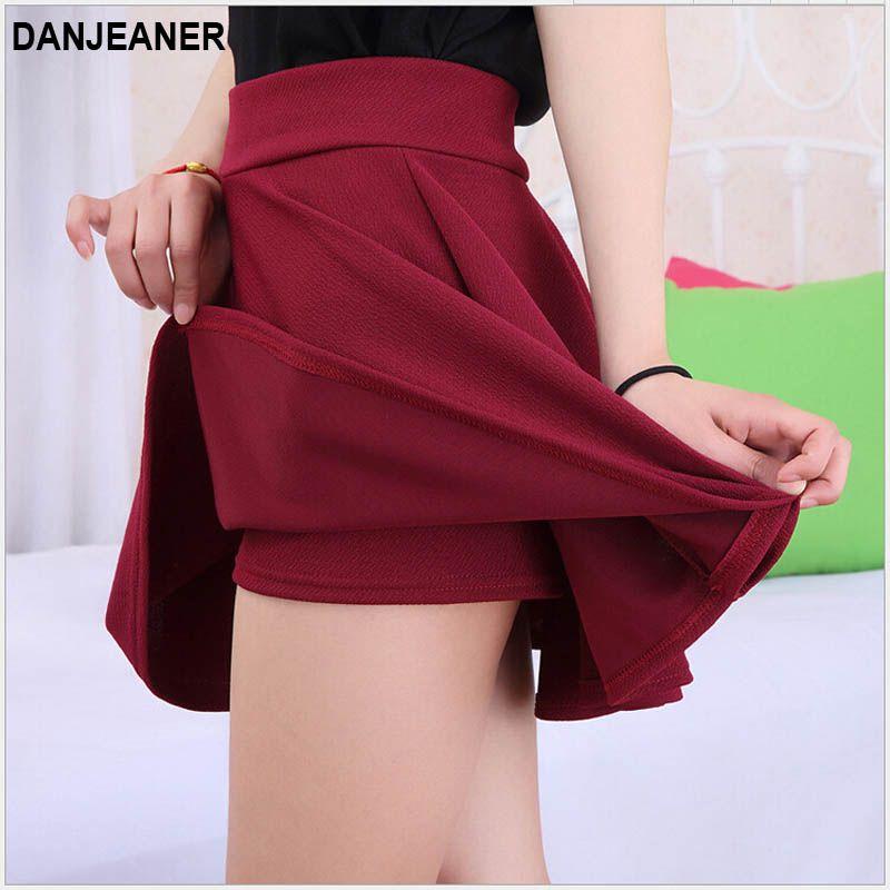 2015 Chaude Femmes Buste Jupe Pantalon Plissé Grande Taille Mode Couleur Bonbon Jupes 9 Couleurs C718