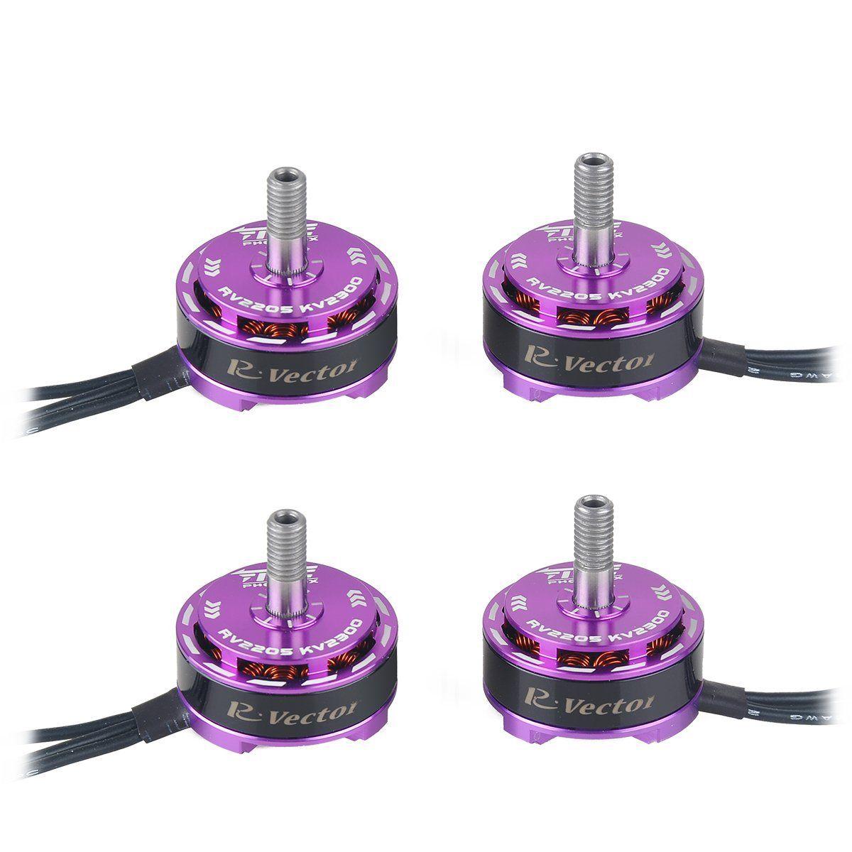 2205 Moteur Brushless 2300KV/2500KV Violet/Rouge FEU PHONENIX 4 pièces 2205 Moteur pour FPV QAV250 RC Drone quadrirotor Multirotor