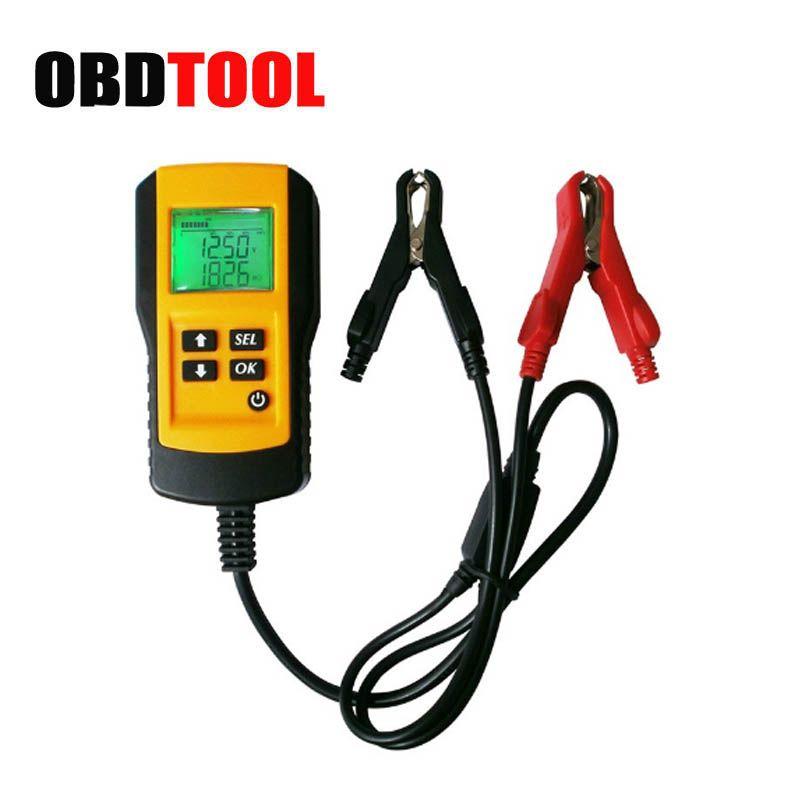 ObdTooL Automotive 12V Digital Battery Detector Tester Analyzer for Voltage Capacity Resistance CCA Diagnostic Tool JC10