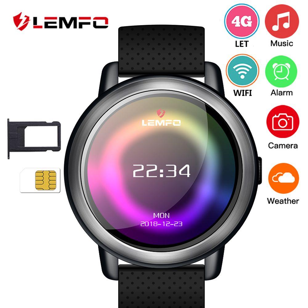 LEMFO LEM8 Smartwatch Android 7.1 LTE 4G Sim WIFI 1,39 Zoll 2MP Kamera GPS Herz Rate IP67 Wasserdichte Intelligente Uhr für Männer Frauen