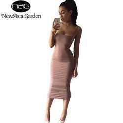 NewAsia Garden Strapyy Double Layered Cotton Bodycon Midi Dress Summer Dress Basic Club Sexy Party Long Slip Dresses Vestidos