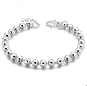 2016 New arrival fashion hot sell simple ball design 925 sterling silver female bracelets jewelry wholesale