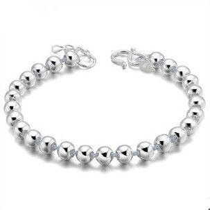 2016 Nueva llegada de la manera de la venta caliente simple bola de diseño plata de ley 925 pulseras de la joyería femenina al por mayor