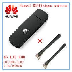 Débloqué Huawei E3372 E3372h-153 (plus une paire de antenne) 4g LTE 150 Mbps USB Modem 4g LTE USB Dongle E3372s-153