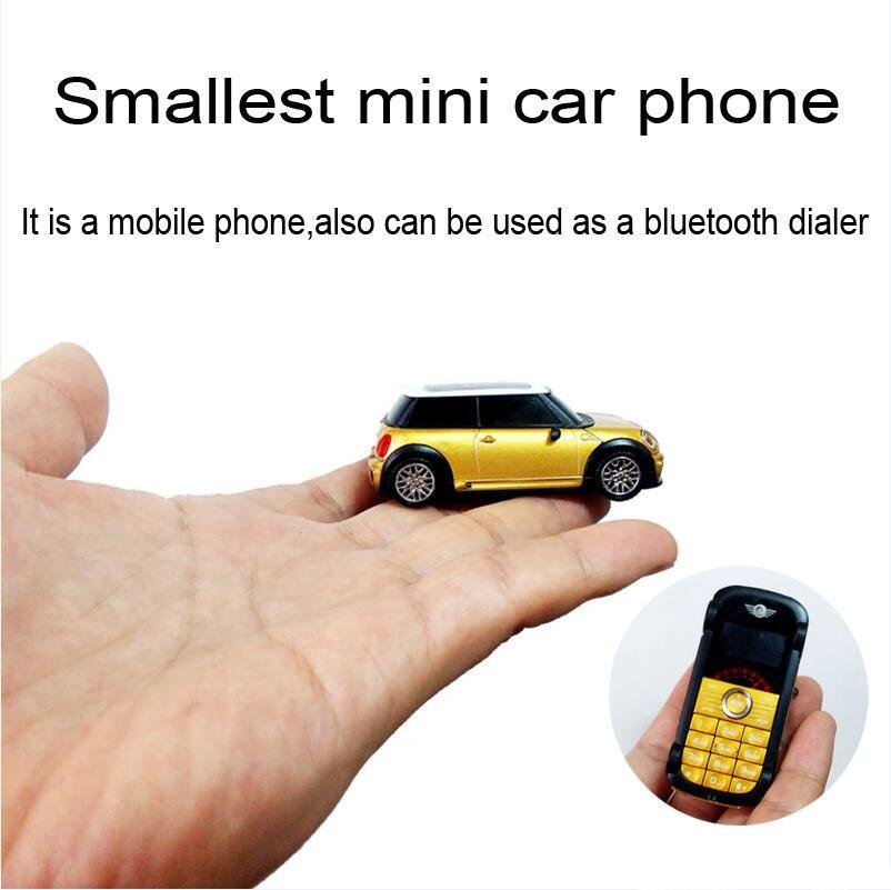 Cute ultra small mini Bar car shape model mp3 fm bluetooth dialer flashlight kids children copper S1 cell mobile phone  P098