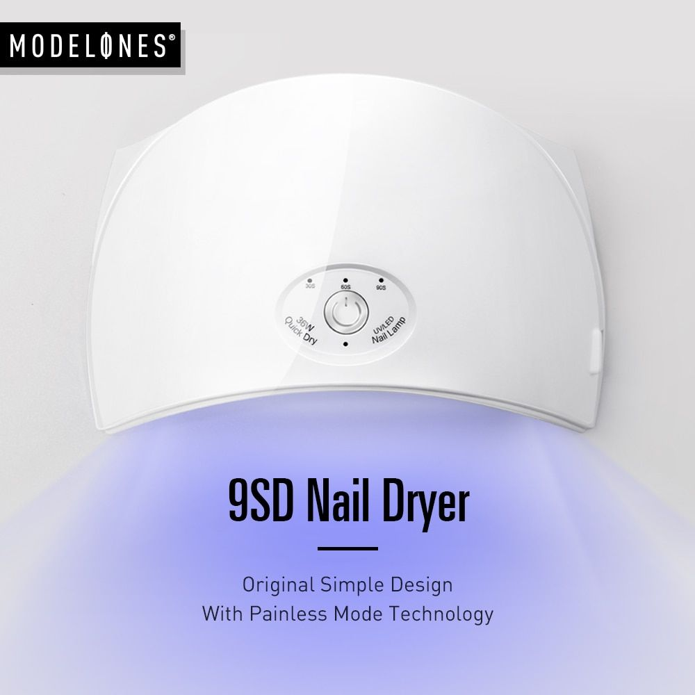 Modelones 36 W UV lampe à led séchoir d'ongles pour Ongles Arqué En Forme 9SD Nail Lampe pour UV Gel Polonais Outils Machine Nail art sèche-Kits