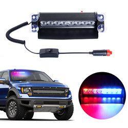 8 LED Red Blue Yellow White color Car Vehicle Police Strobe Flash Warning EMS Light Flashing Firemen Fog led Emergency lights