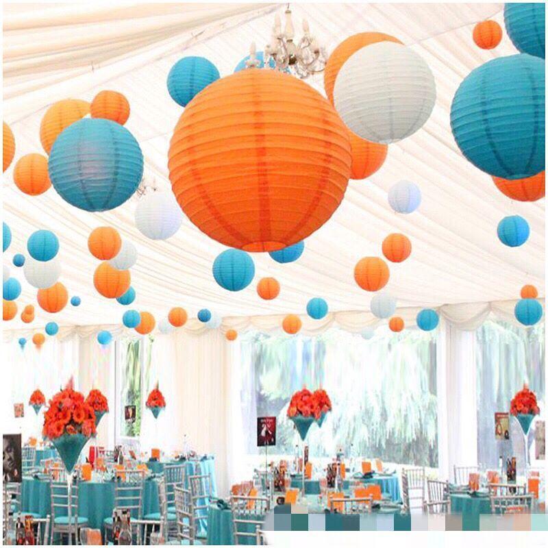 8''(20cm) Round Paper Lanterns Lamps Festival Wedding Decoration Chinese Paper Lanterns Party Favors Craft Supplies