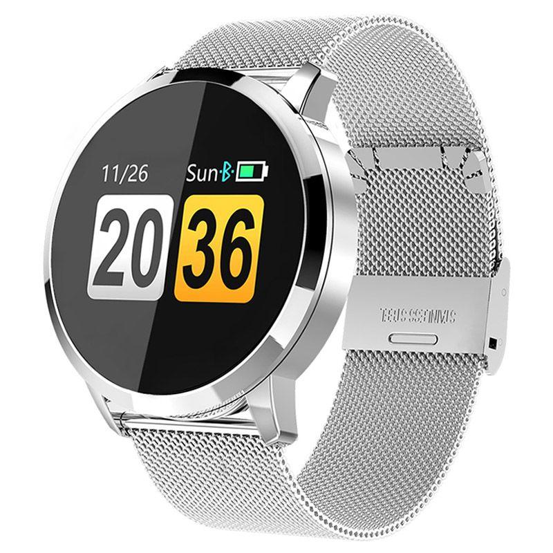 Montre intelligente de fitness homme femme OLED Écran moniteur de fréquence cardiaque Sang Pression Tactile Étanche montre de sport-Bracelet Pour Android IOS