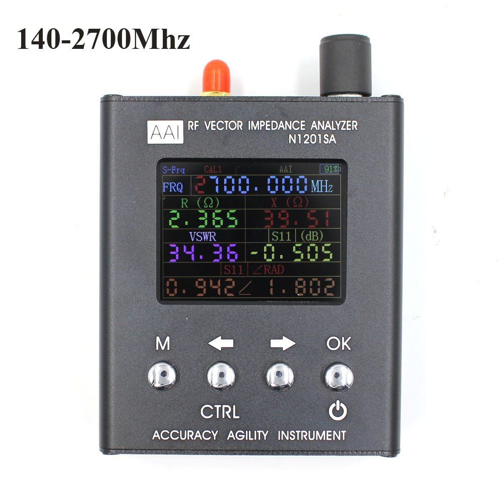 English verison N1201SA UV RF Vector Impedance ANT SWR Antenna Analyzer Meter Tester 140MHz - 2.7GHz resistance/impedance/SWR