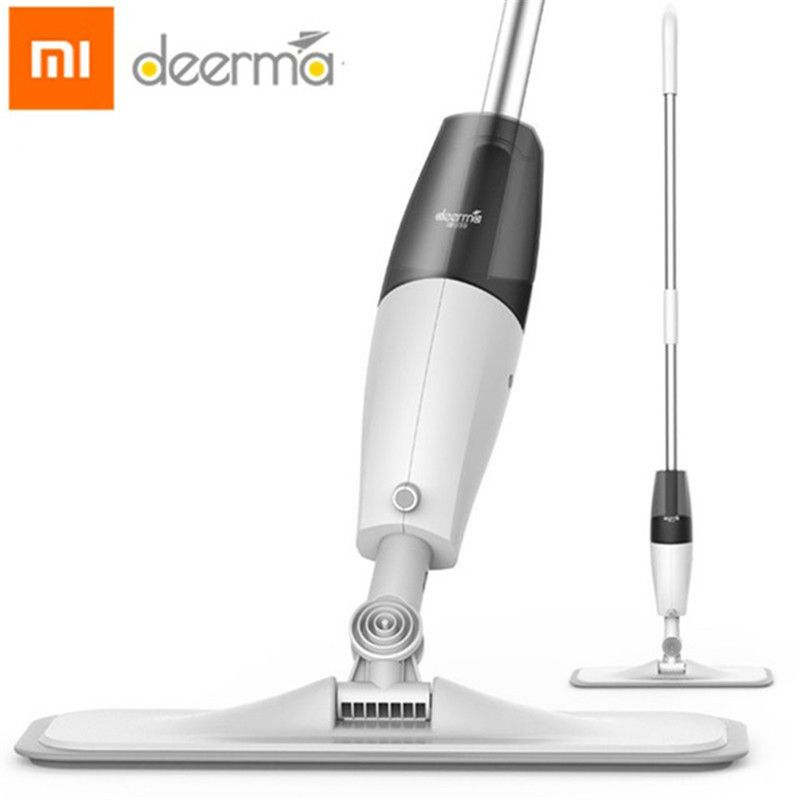 Original Xiaomi Deerma Water Spraying Sweeper Mijia Floor Cleaner Carbon Fiber Dust Mops 360 Rotating Rod 350ml Tank Waxing Mop