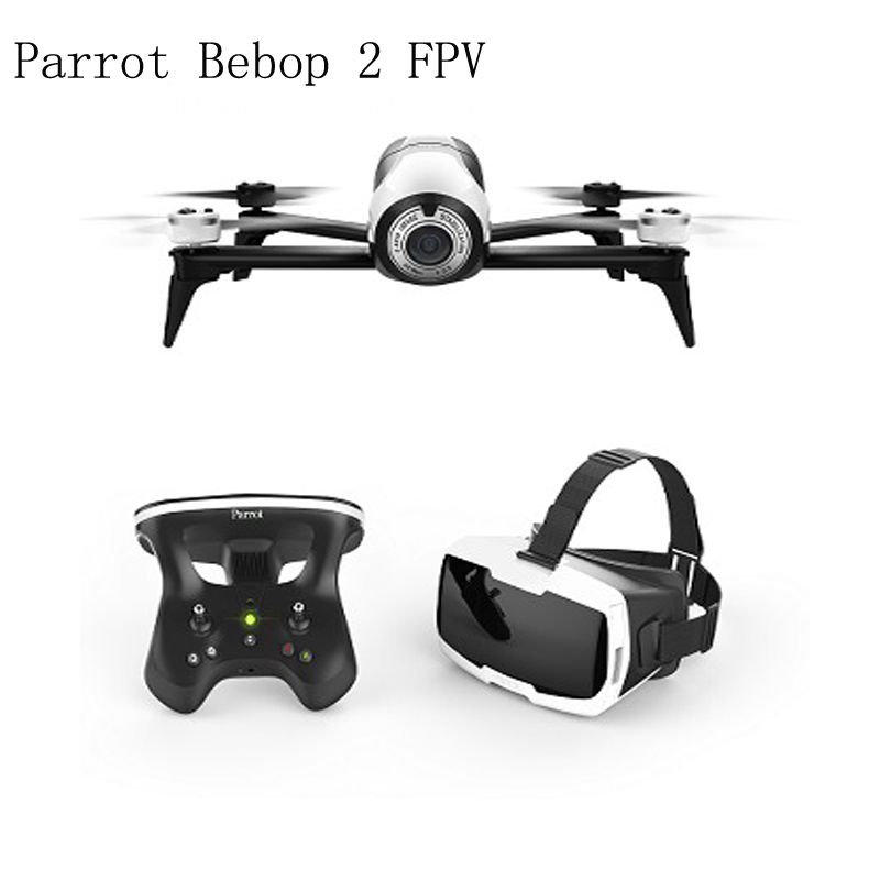 Drone Parrot Bebop 2 FPV Drones with Camera HD Professional 4K Up to 25 Minutes of Flight time, FPV goggles, Compact Quadcopter