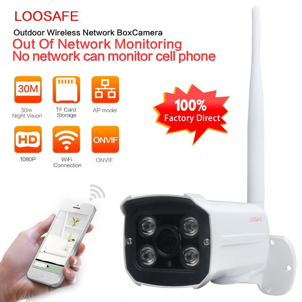 LOOSAFE Wifi Impermeable Al Aire Libre Cámara IP CCTV 960 P HD Mini Cámara de La Bala 4 Leds IR Día/Noche de Seguridad Home Video Vigilancia