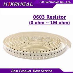 100 Pcs 0603 SMD 1/8W Resistor Chip Resistor 0 Ohm ~ 10M 0R 1K 4.7K 4K7 10K 100K 1 10 100 220 330 Ohm 0R 1R 10R 100R 220R 330R