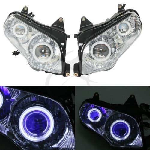 Motorcycle Accessories Angel Eyes HID Projector Demon Eye Headlights For Honda Goldwing GL1800 F6B