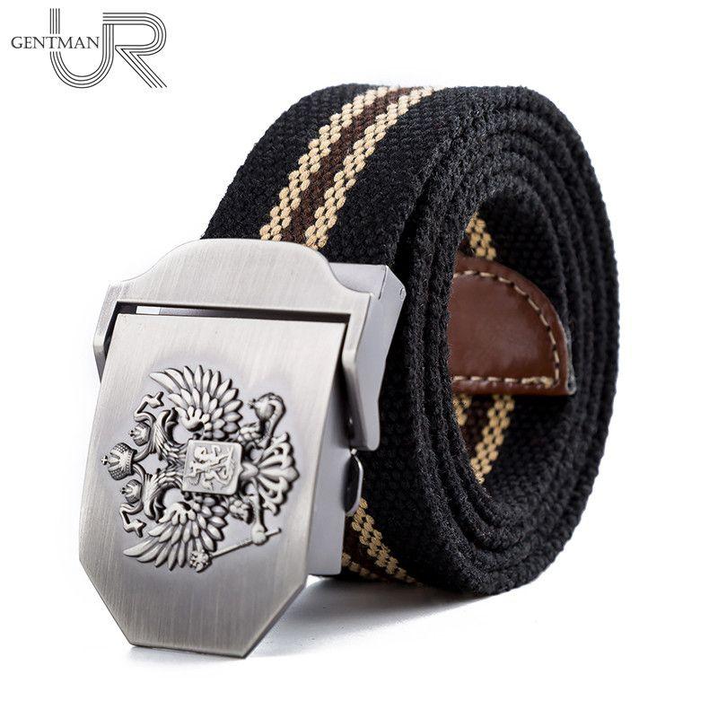Unisex Russian National Emblem Canvas Tactical Belt High Quality Military Belts For Mens & Women Luxury Patriot Jeans Belt
