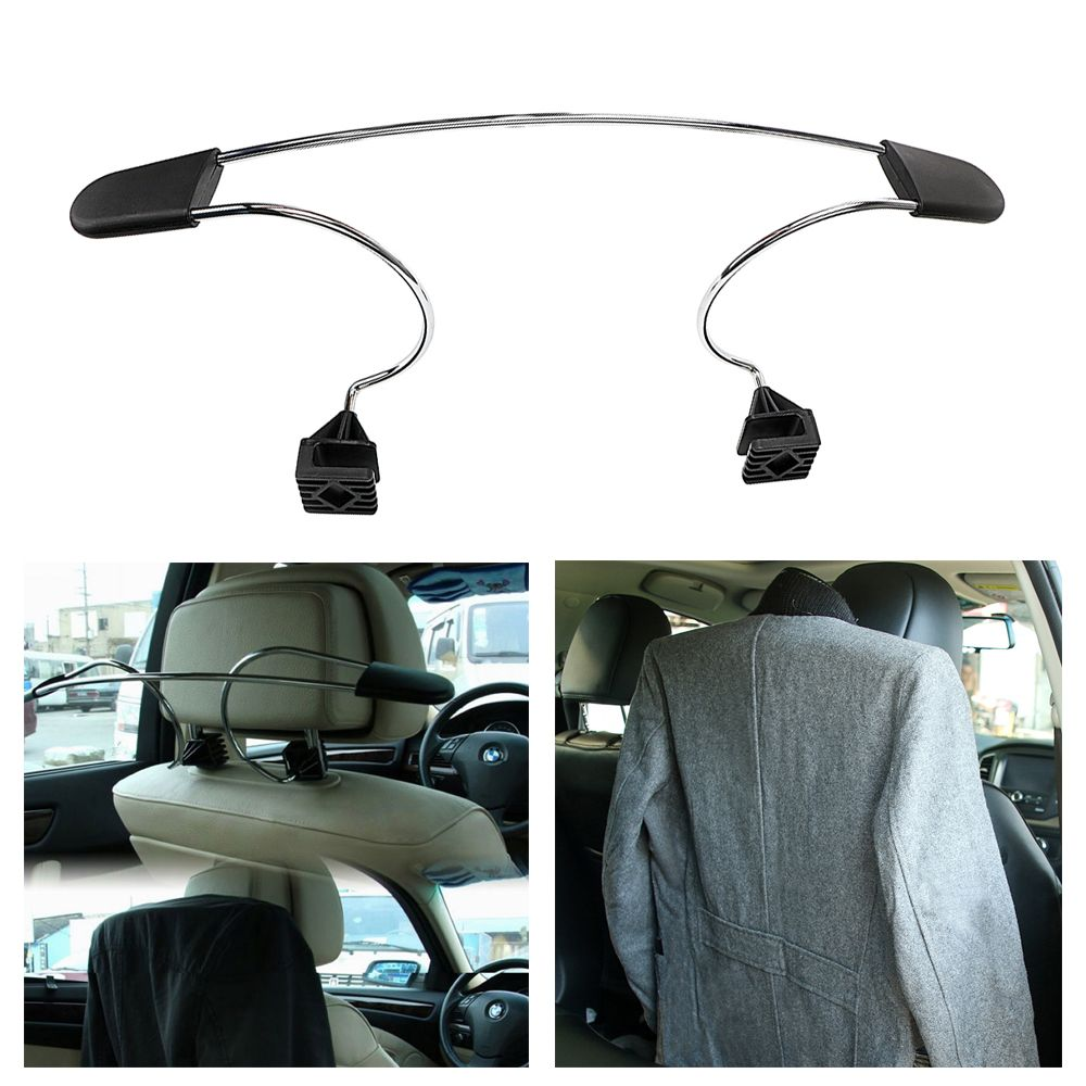 Stainless Steel Car Seat Headrest Coat Hanger For Jackets Suits Clothes Auto Seat Back Clips Holder Hook Organizer Convenience