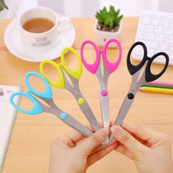 Fashion 1PC Creative Multi-functional Stainless Scissors 159mm Size Manual Supplies for School Office Home Paper Knife