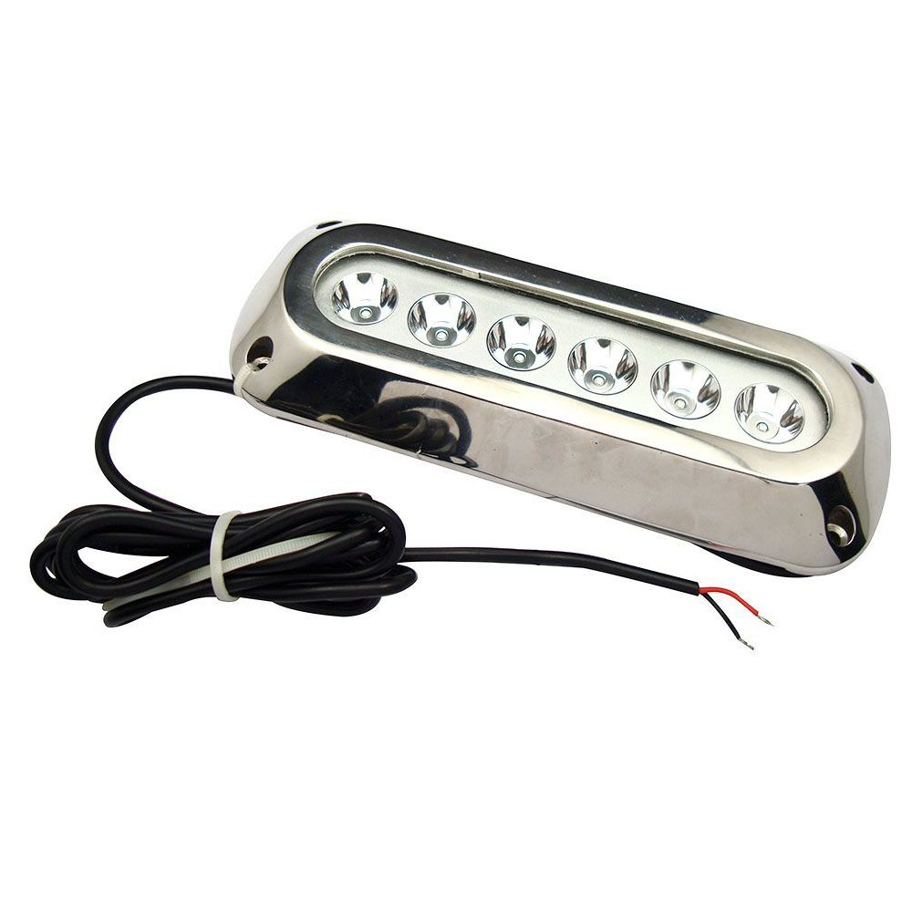 18w Blue Stainless Steel IP68 Waterproof LED Marine Underwater Light Boat Yacht light