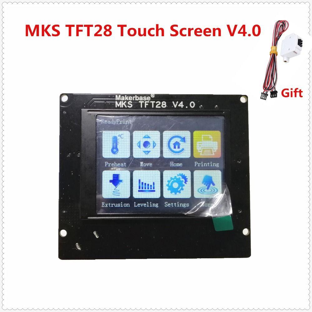 3d impression éléments MKS TFT28 V4.0 écran tactile RepRap contrôleur panneau affichage coloré SainSmart splash écran écran lcd