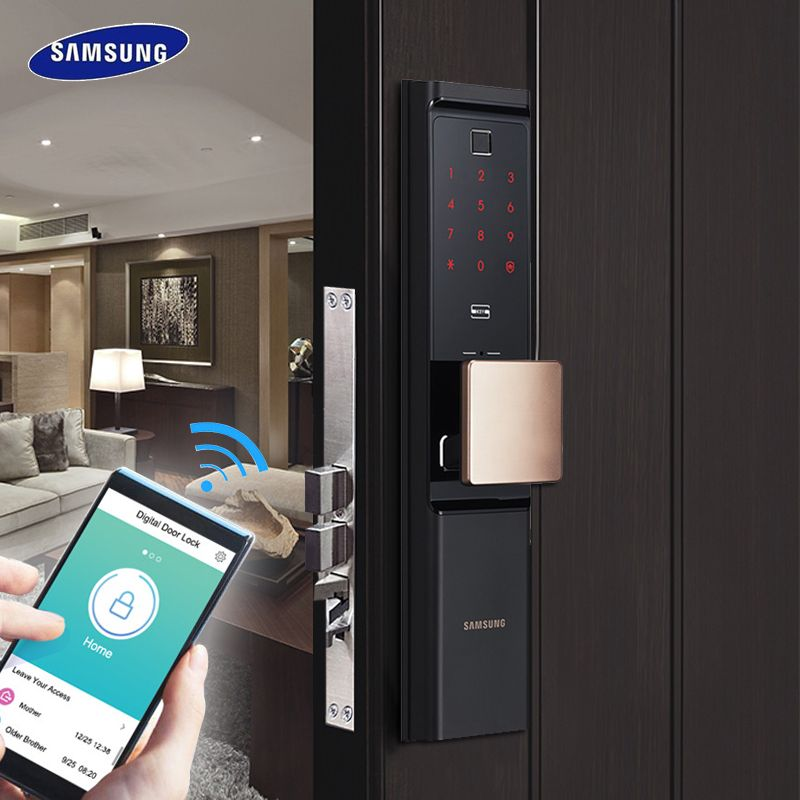 SAMSUNG Fingerprint Digital Wifi Türschloss loT Keyless SHP-DR708/SHP-DR717 Englisch Verion Eurp Moritse