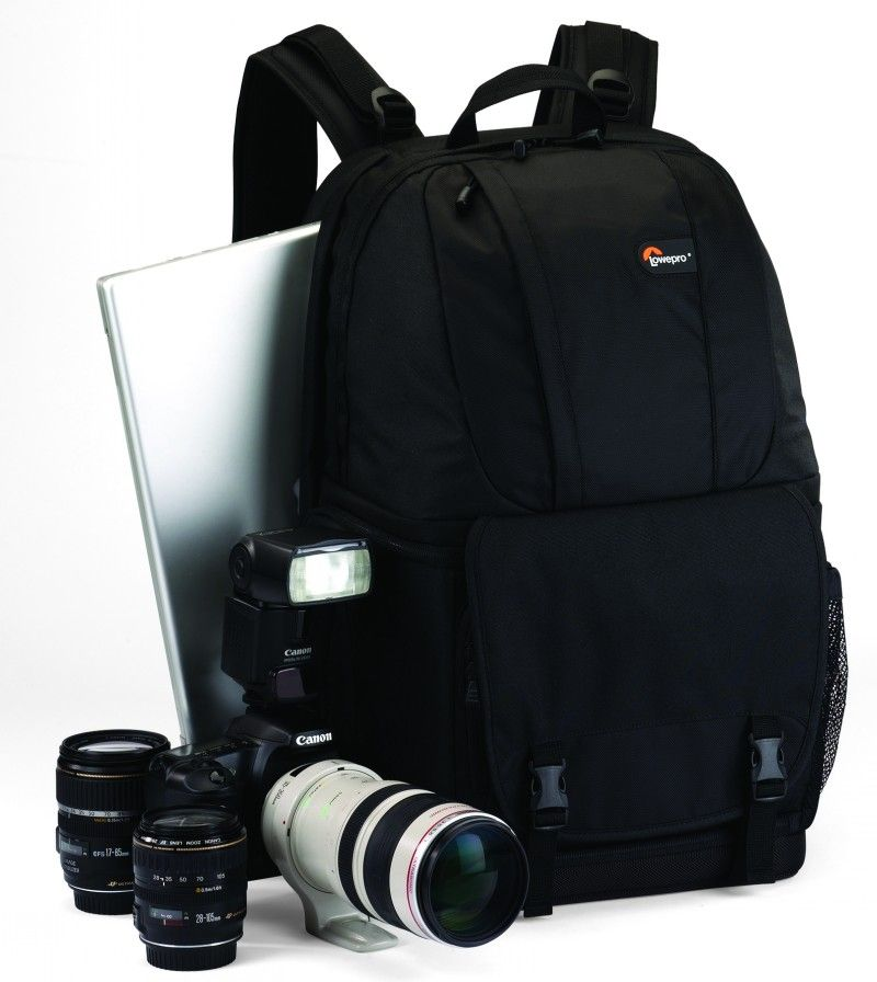 Original Lowepro Fastpack 350 FP350 SLR Digital Camera Shoulder Bag 17 inch laptop with all weather Rain cover