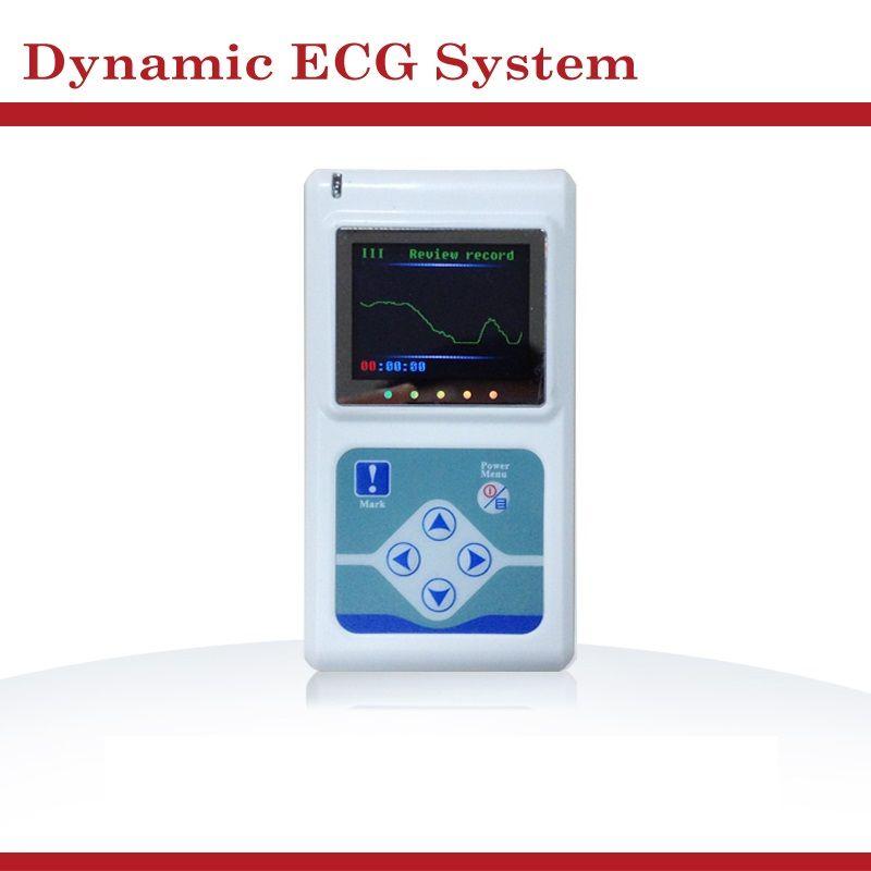 12 Canaux de Fréquence Cardiaque TLC5000 24 Heures Holter ECG portable dispositif avec LCD Affichage Surveillance ECG Système Testeur